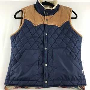 Element Navy Blue Quilted Vest Youth Sz Large